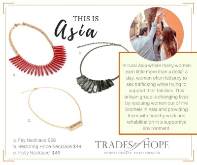handcrafted jewelry from Asia