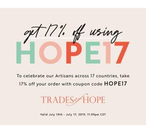 coupon code HOPE17