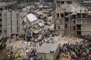 Aftermath of the Rana Plaza collapse