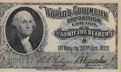 World's Fair 1893 ticket
